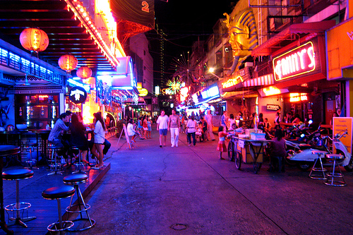 Bankok streets by night
